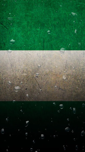 Nigeria flag water effect LWP
