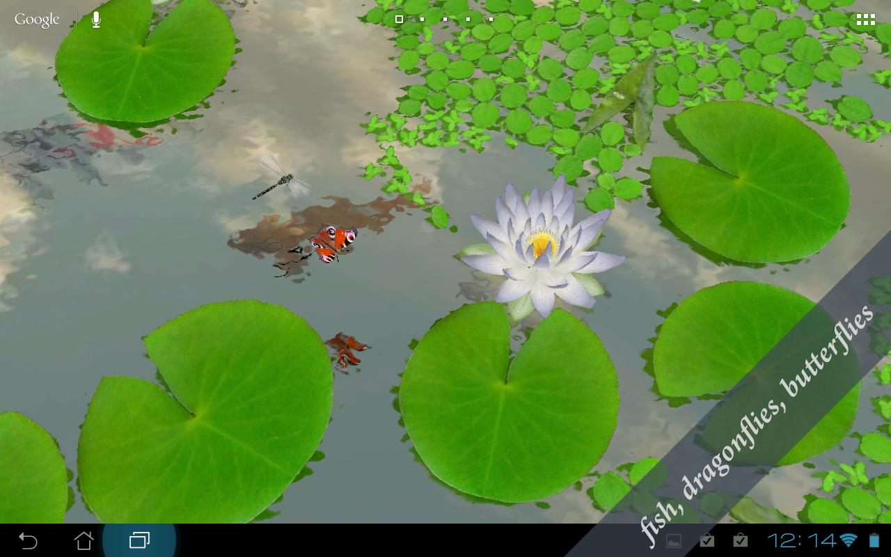 3D Lotus Live Wallpaper - screenshot