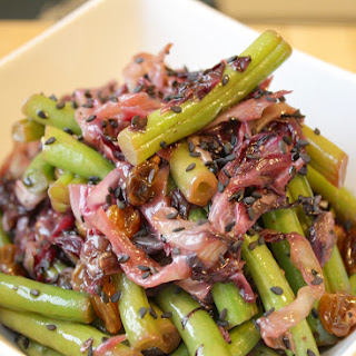 Radicchio, Green Bean, and Golden Raisin Salad