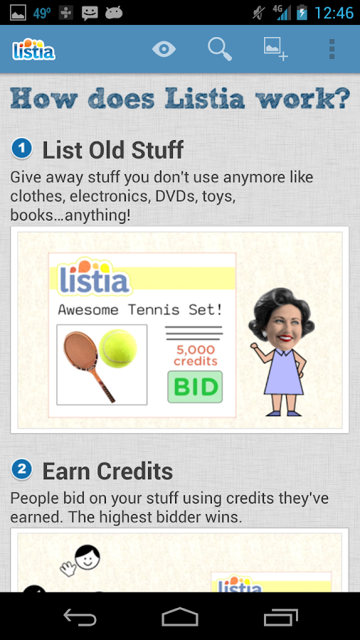 Get Free Stuff on Listia - screenshot