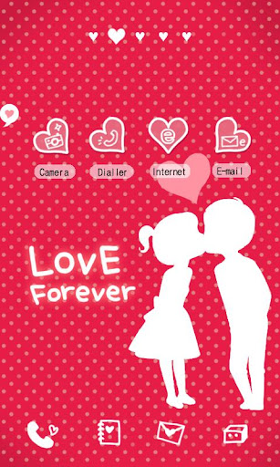 CUKI Theme Red and White Love