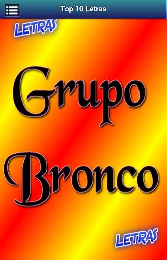 Letras Grupo Bronco