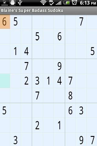 Blaine's Sudoku- screenshot