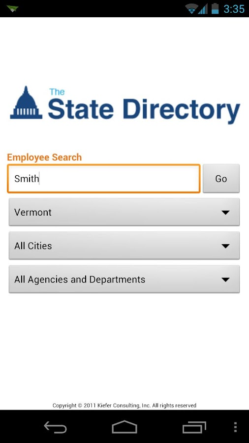 The State Directory - screenshot
