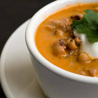 Black-eyed-pea and Mexican chorizo soup.