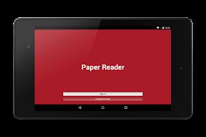 Screenshot of Paper Reader