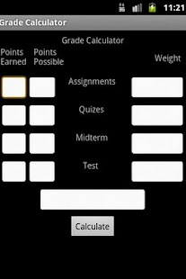 Easy Grade Calculator - screenshot thumbnail