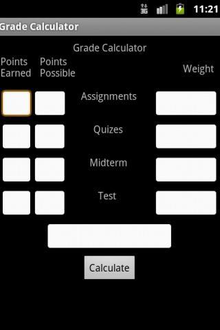 Easy Grade Calculator - screenshot