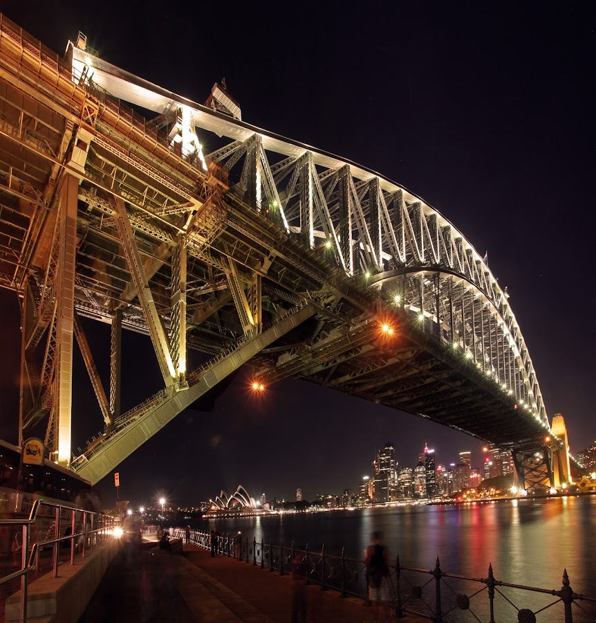 World biggest coat hanger by Sachin Wakhare - Buildings & Architecture Bridges & Suspended Structures ( icon, beautiful, operahouse, steel, engineering, lights, landmark, sydneyharbourbridge, night photography, coathanger, harbourbridge, long exposure, sydney )