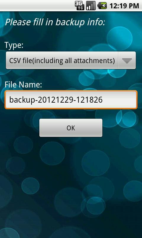 VeryAndroid SMS & MMS Backup - screenshot