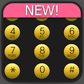 exDialer Dark-Gold theme
