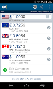 XE Currency - screenshot thumbnail