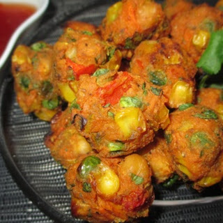 Curried Chickpea and Vegetable Balls.