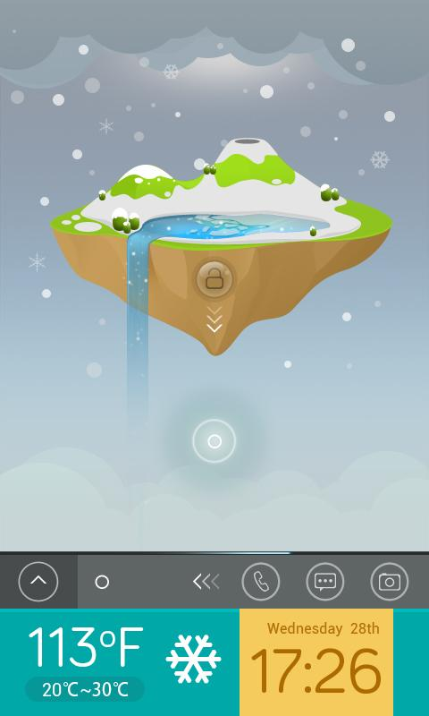 Sky Island  GO Locker Theme - screenshot