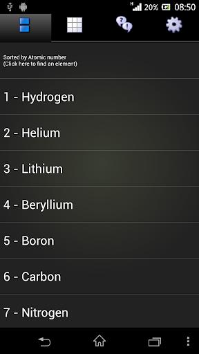 元素周期表 - 免费