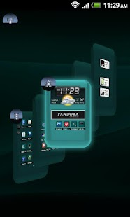 TSF Shell Theme Cyan HD- screenshot thumbnail
