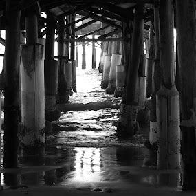 Under the boardwalk by Kimmarie Martinez - Black & White Buildings & Architecture (  )