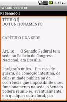 Screenshot of Regimento Senado Federal