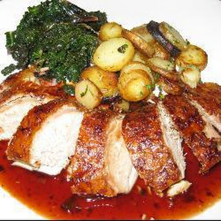 Roast Duck with Apple and Ham Stuffing