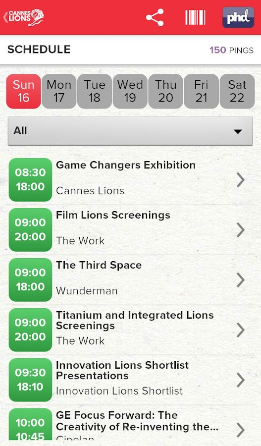 Cannes Lions 2013 - screenshot