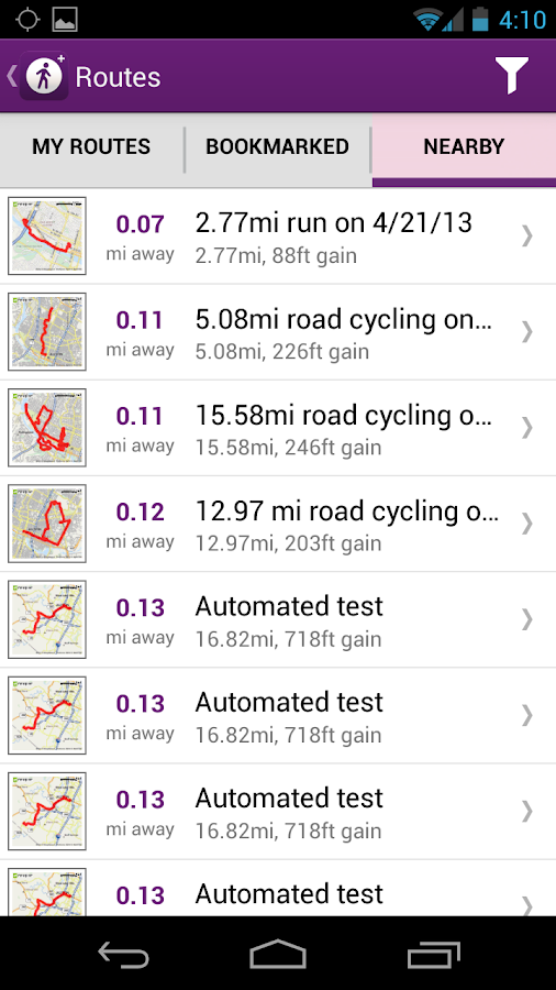 MapMyWalk+ GPS Pedometer - screenshot