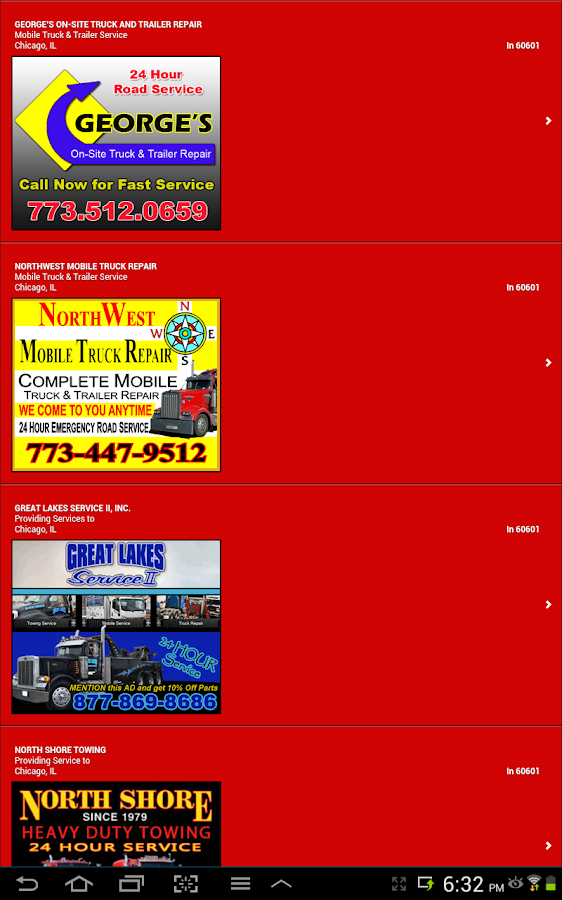 Find Truck Service Trucker App - screenshot