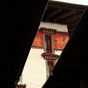SLIT VIEW by Amitava Banerjee - Buildings & Architecture Places of Worship ( monastery )