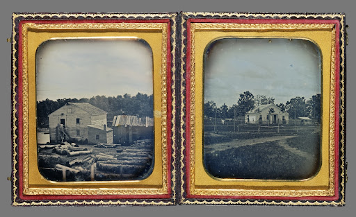 One Daguerreotype with two parts