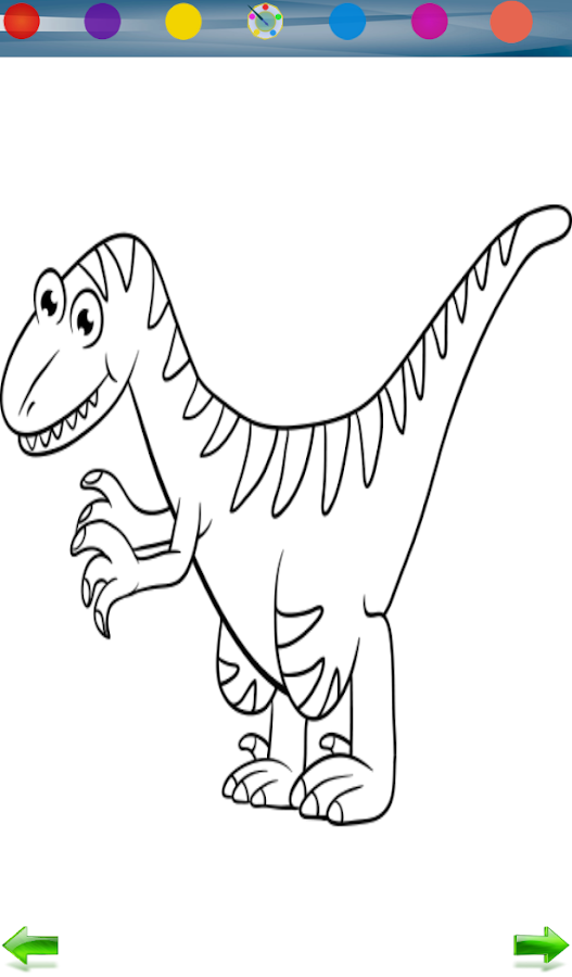 Dinosaurs Coloring Game Screenshot
