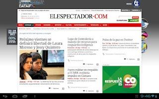 Screenshot of El Espectador