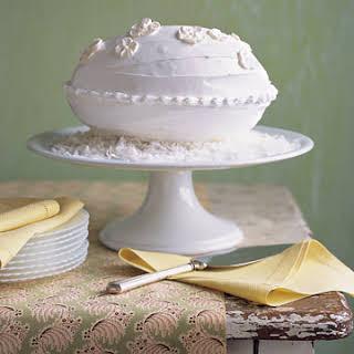 Coconut-Almond Egg-Shaped Cake.