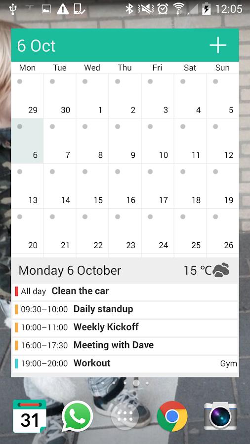 WAVE Calendar - screenshot