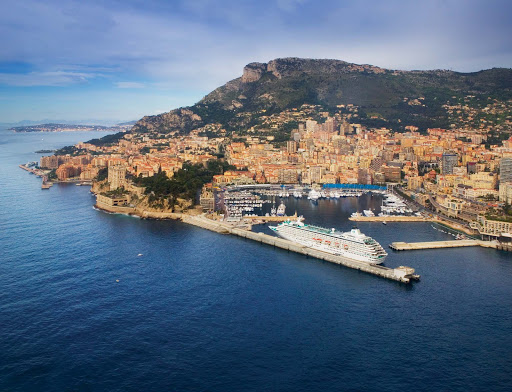 Crystal-Symphony-Monte-Carlo-Aerial-View - Enjoy the luxury of world-famous Monte Carlo from Crystal Symphony.