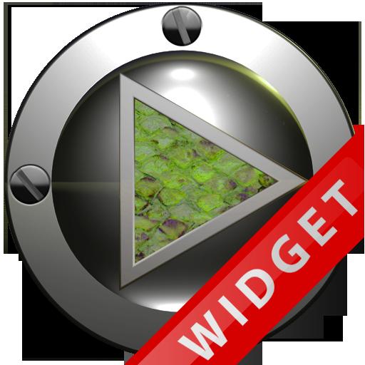 Poweramp Widget Green Snake