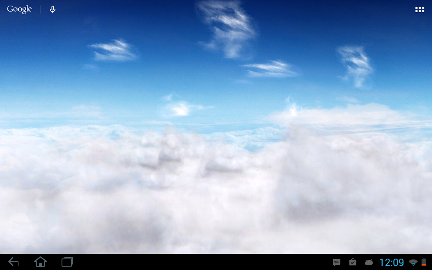 Blue Skies Live Wallpaper- screenshot