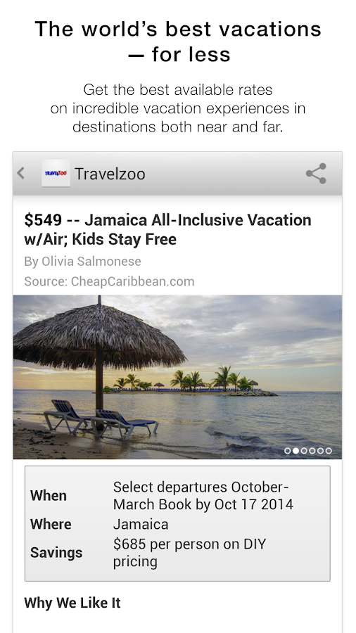 Travelzoo- screenshot