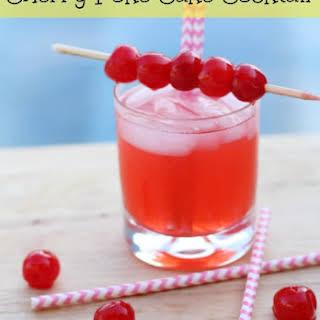 Cherry Poke Cake Cocktail.
