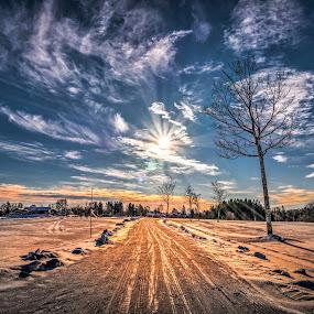 Askim, Norway 110 by IP Maesstro - Landscapes Prairies, Meadows & Fields ( field, clouds, winter, ip maesstro, hdr, tree, sunset, snow, golf, sunrise, landscape, sun,  )