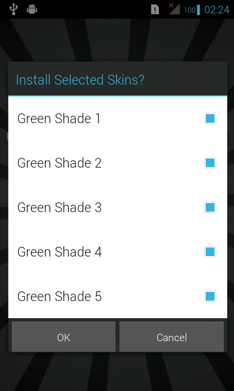 Green Skins for iSense Music - screenshot