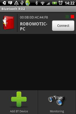 Bluetooth RSSI Pro - screenshot
