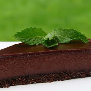 Chocolate-Glazed Chocolate Tart.