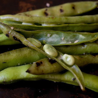 Grilled Fava Beans.