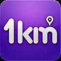 1km – '우리동네 소셜네트워크' logo