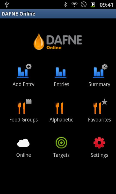 DAFNE Online Android- screenshot