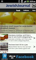 Screenshot of JewishJournal app for Android