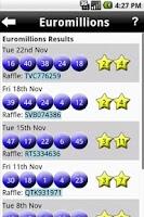 Screenshot of Lotto Checker