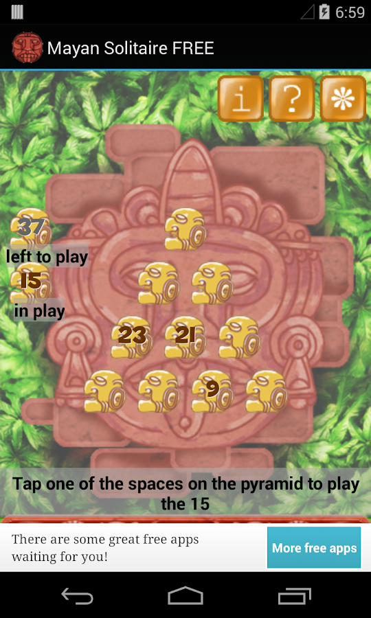 Mayan Solitaire card game FREE- screenshot