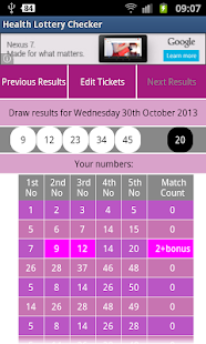 Health Lottery Checker- screenshot thumbnail