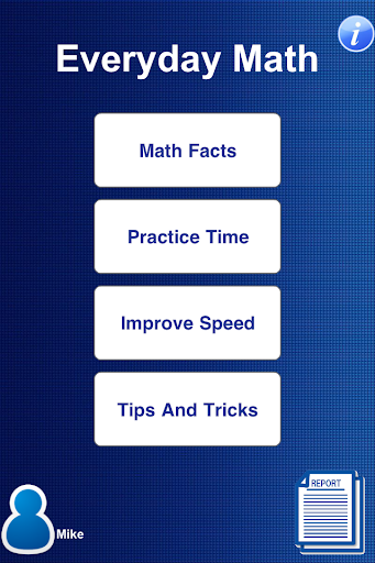 Math Facts Practice Master