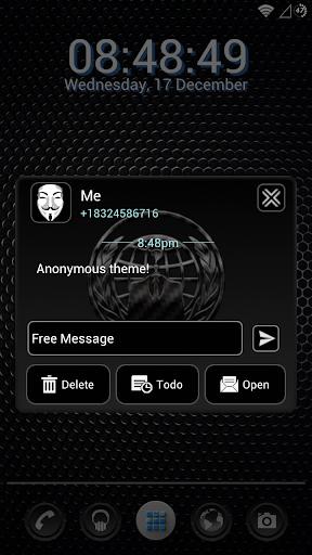 ANONYMOUS GO SMS THEME OCCUPY